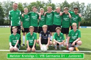 Zum zweiten Mal Meister: die D1-Junioren des VfB Lette.