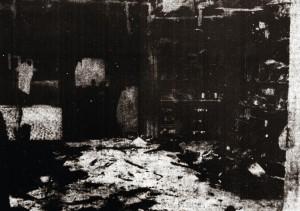 Der Thekenraum des Hotels Hartmann brannte vollständig aus. Die angrenzenden und darüberliegenden Räume trugen infolge der Hitzeentwicklung schwere Schäden davon.